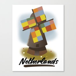 Netherlands travel poster Canvas Print