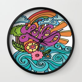 Love in Color Wall Clock