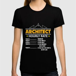 Architect Hourly Rate Funny Handyman Dad T-shirt
