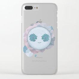 Floral Smiley Clear iPhone Case