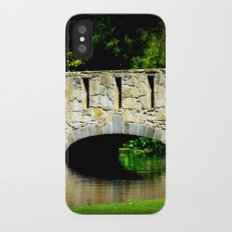 Bridge over Pond iPhone X Slim Case