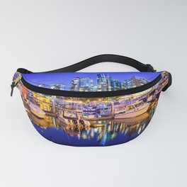 Vancouver Marina at Night Fanny Pack