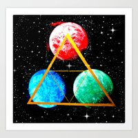 triforce Art Prints featuring Triforce by AbstractAnomaly
