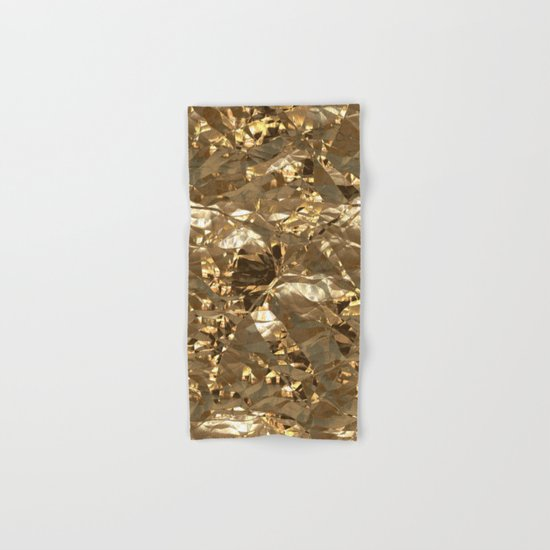 Gold Metal Hand & Bath Towel