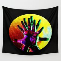 hands Wall Tapestries featuring Hands by ioannart