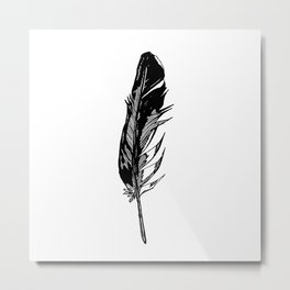 ANGEL'S FEATHER Metal Print