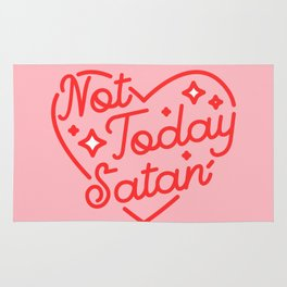 not today satan II Rug