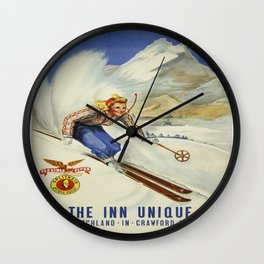 Vintage poster - Crawford Notch, New Hampshire Wall Clock