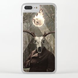 Doomed in November Clear iPhone Case