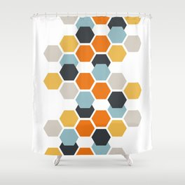 Sam (White) Shower Curtain