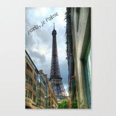 paris, je t'aime Canvas Print