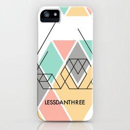 LessDanThree Brand Identity iPhone Case