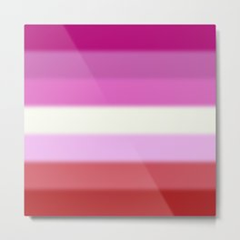 Lesbian Pride Flag Metal Print