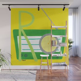 R is for Radio Wall Mural