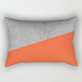 Concrete and Flame Color Rectangular Pillow