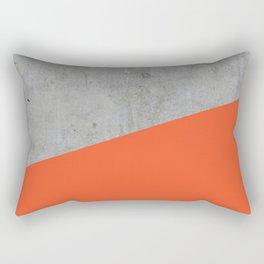 Concrete and flame color Rectangular Pillow
