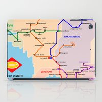 middle earth iPad Cases featuring Middle-Earth metro map by tuditees
