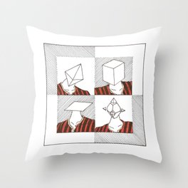 Ability to make your head any geometric shape Throw Pillow