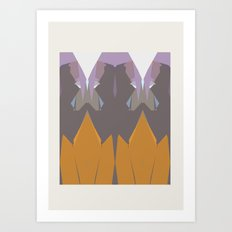 Geometric Mountains Art Print
