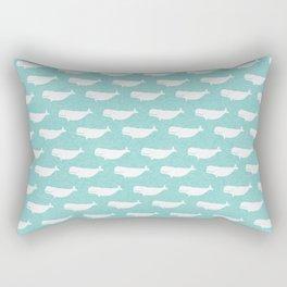Turquoise beluga pattern Rectangular Pillow