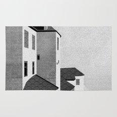 Castle in the Sky | Black & White Rug
