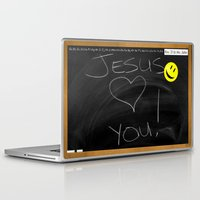 bible verses Laptop & iPad Skins featuring Bible School Lesson #1 by serloren
