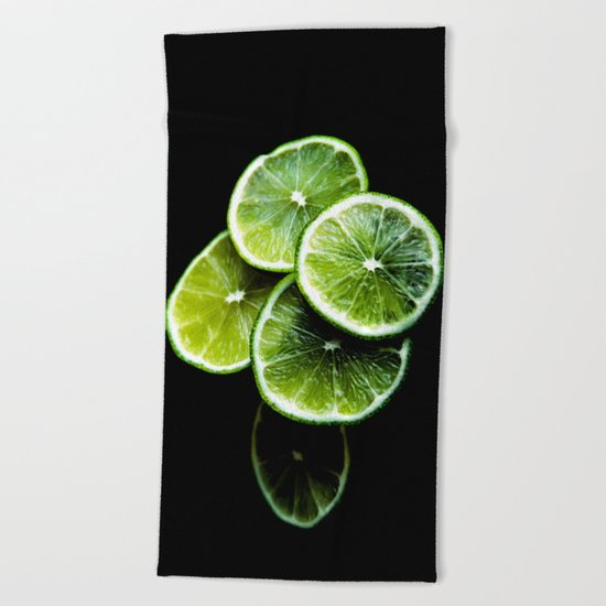 lemon lima Beach Towel
