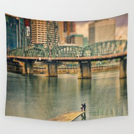 Lovers Under the Bridge Wall Tapestry