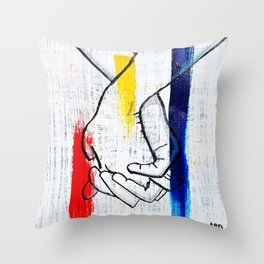 Primary Love Throw Pillow