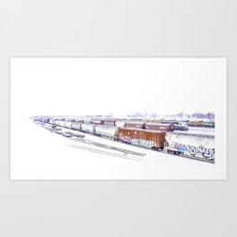 Cold Trains Art Print