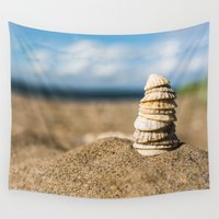 shell Wall Tapestries featuring Shell Tower by Errne