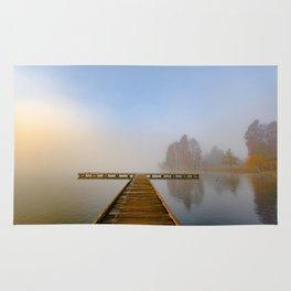 Morning fog at Green Lake, Seattle Rug
