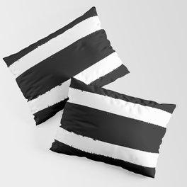 Black & White Paint Stripes by Friztin Pillow Sham