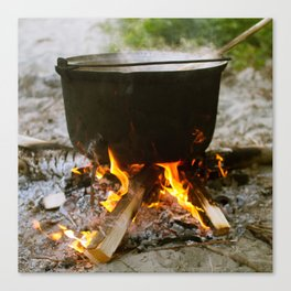 Campfire Cooking Canvas Print
