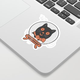 Turn Your Crystal Ball On - The Black Cat is Calling Sticker