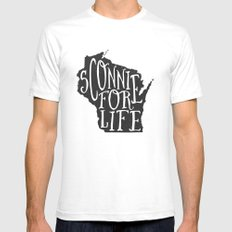 Sconnie for Life SMALL White Mens Fitted Tee