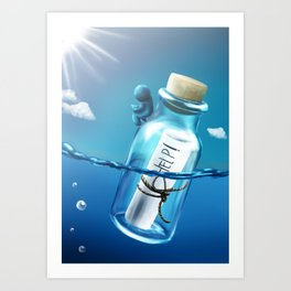 Enano del frasco Art Print