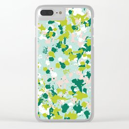 Freestyle Paint Spring Colors Clear iPhone Case