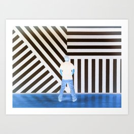 The Ghost at the Museum Art Print