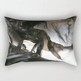 black plastic 06 Rectangular Pillow