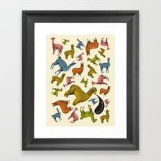 camelids Framed Art Print