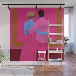 in truly great company, the canvas will fill itself Wall Mural
