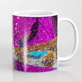 Fuschia Outer Space Forest Explosion Coffee Mug