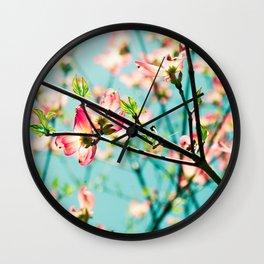 Aqua Spring Wall Clock