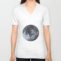 planet V-neck T-shirts featuring Planet by Design Art Helvetica and Abstract Art, m