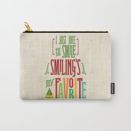 Buddy the Elf! Smiling's My Favorite! Carry-All Pouch