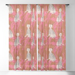 Veronica the cat Sheer Curtain