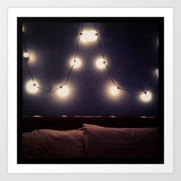 Bedroom Lights Art Print