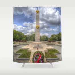 Russian War Memorial Budapest Shower Curtain