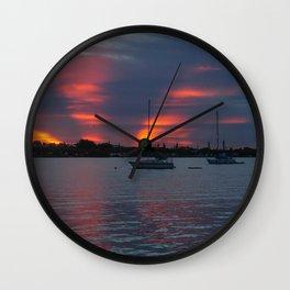 Jensen Beach Sunset Wall Clock